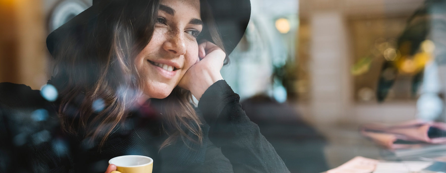 woman at coffee shop